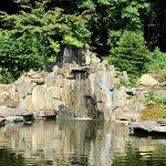 Ogród japoński z kaskadą z łupka (2)
