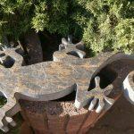 kamienna jaszczurka długa na 70 cm